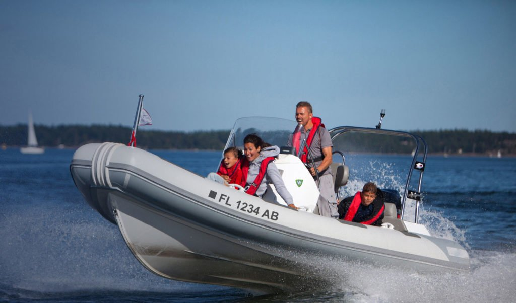 Become a member image of family having fun on the water